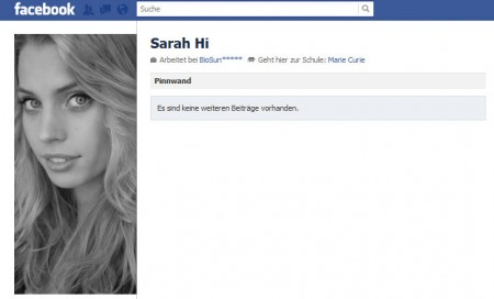 Sarah // Screenshot Facebook.com