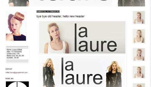 Laura Witteks Blog // Screenshot la-laure.blogspot.com