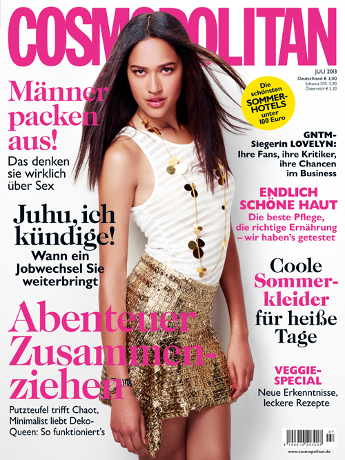 GNTM Lovelyn als Cover-Model der Cosmopolitan
